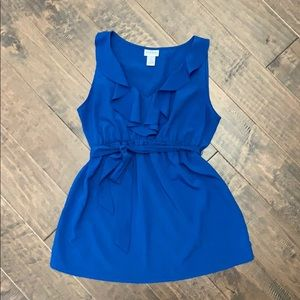 Royal Blue Maternity blouse - small